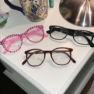 EUC faux glasses bundle of three